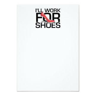 靴のためのティーの仕事 カード