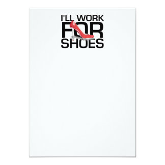 靴のためのティーの仕事 12.7 X 17.8 インビテーションカード