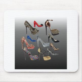 靴のハイヒールのコラージュはカスタマイズ マウスパッド
