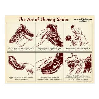 靴の図解入りガイドの郵便はがきを照らす方法 ポストカード