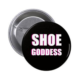 靴の女神ボタン 5.7CM 丸型バッジ