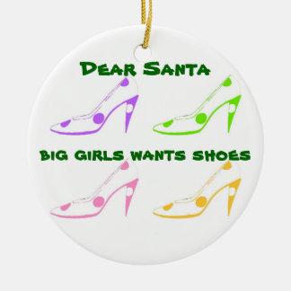 靴の恋人のためのサンタへのクリスマスの手紙 セラミックオーナメント