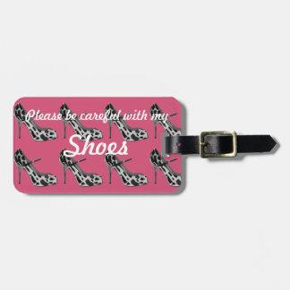 靴の恋人のための暗いピンクの荷物のラベル ラゲッジタグ