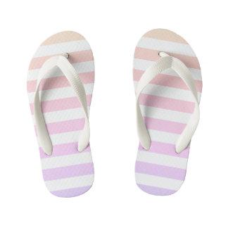 靴の愛-グラデーションでストライプなビーチサンダルのため キッズビーチサンダル