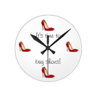 靴の時計を買う時間 ラウンド壁時計