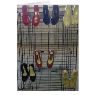 靴の棚 カード