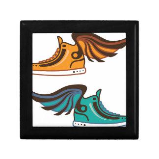 靴の翼。 速い ギフトボックス