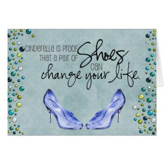 靴はあなたの人生の挨拶車を変えることができます カード