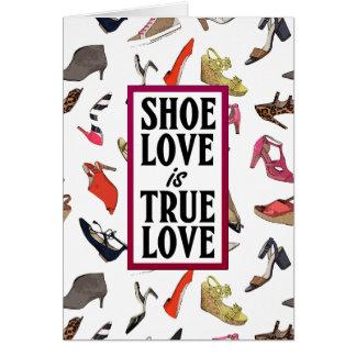 靴愛ブランクの挨拶状 カード