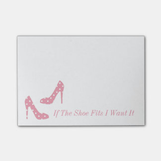 靴適合は私それがピンクのポスト・イットほしいと思えば ポストイット