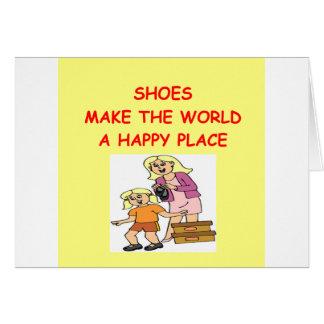 靴 カード