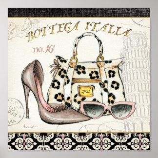 靴、バッグおよび眼鏡 ポスター