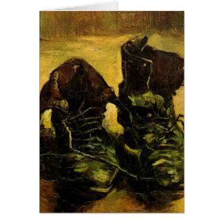 靴、ヴィンテージの静物画の芸術ゴッホ グリーティングカード