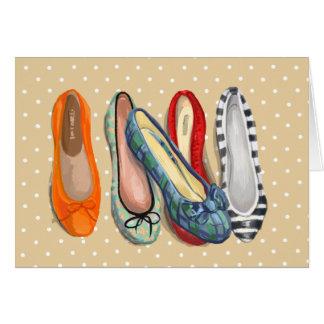 靴-小さいスリッパ グリーティングカード