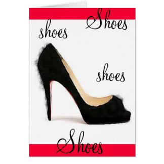 靴、靴、靴、靴 グリーティングカード