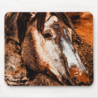 鞭の電気セピア色の馬のマウスパッド マウスパッド