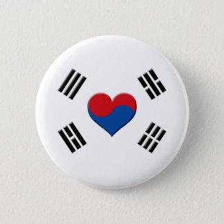 韓国のハート 5.7CM 丸型バッジ