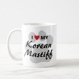 韓国のマスティフのモノグラム コーヒーマグカップ