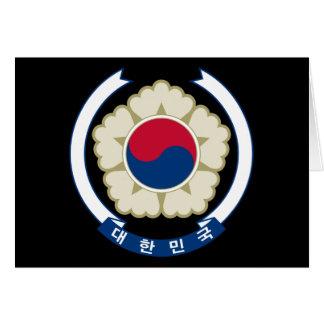 韓国の南紋章 カード