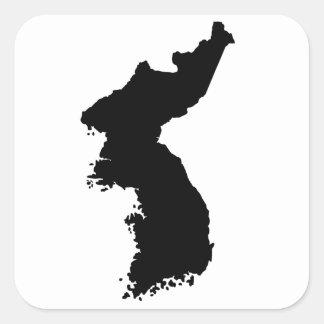 韓国の地図 スクエアシール
