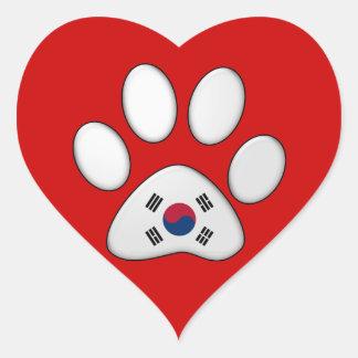 韓国の愛国心が強い猫 ハートシール