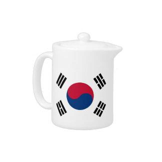 韓国の旗のティーポット