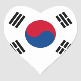 韓国の旗 ハートシール