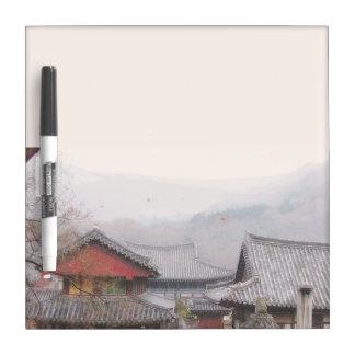 韓国の村のマーカー板 ホワイトボード