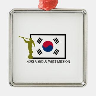 韓国ソウルの西の代表団LDS CTR メタルオーナメント