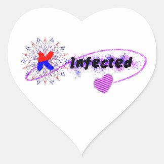 韓国著感染させる ハートシール