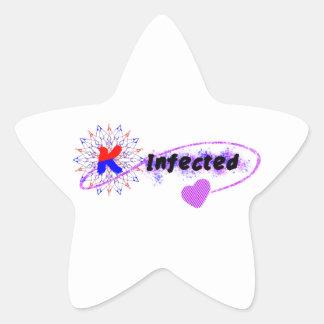 韓国著感染させる 星シール