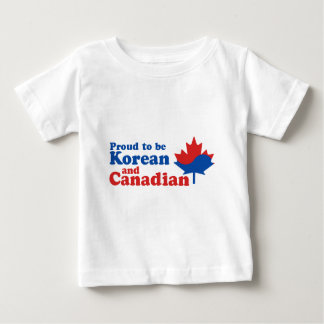 韓国語およびカナダ人 ベビーTシャツ
