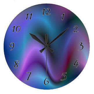 音の抽象芸術の波 ラージ壁時計