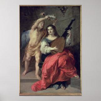 音楽および愛1652年 ポスター