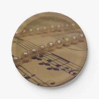 音楽および真珠 ペーパープレート