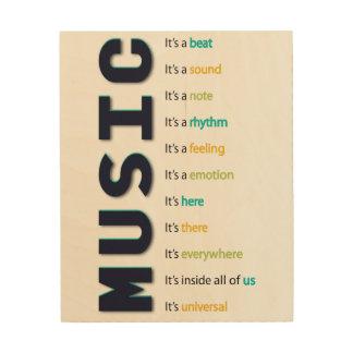 音楽それはビートです ウッドウォールアート