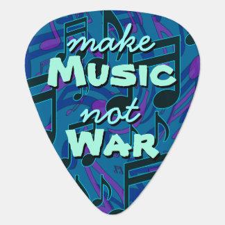 音楽ない戦争に音符を青緑して下さい ギターピック