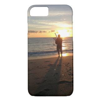 音楽のビーチの美しい日の出 iPhone 8/7ケース