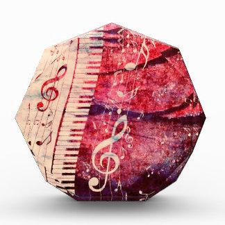 音楽のピアノキーボードはGrunge09に注意します 表彰盾