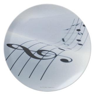音楽のライン 皿