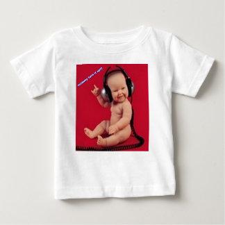 音楽の上のお母さんの回転 ベビーTシャツ
