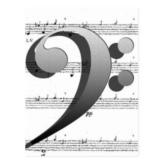 音楽の先生のためのおもしろい音楽クレフ、音符記号音楽ギフト ポストカード