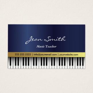 音楽の先生のロイヤルブルーのピアノはエレガント調整します 名刺