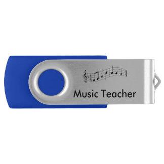 音楽の先生の名前入りで抜け目がないドライブ USBフラッシュドライブ