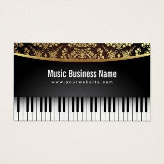 音楽の先生の贅沢で現実的なピアノ 名刺