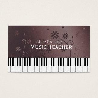 音楽の先生|の花のピアノ 名刺