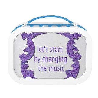 音楽の変更によって始まろう ランチボックス