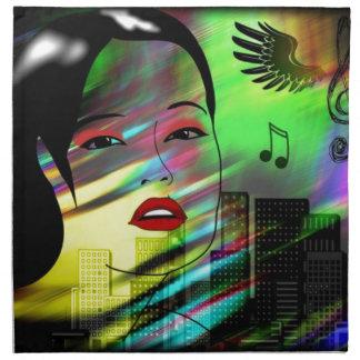 音楽の女の子 ナプキンクロス
