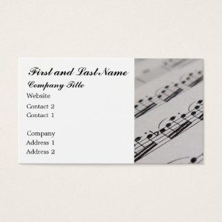 音楽の専門家 名刺
