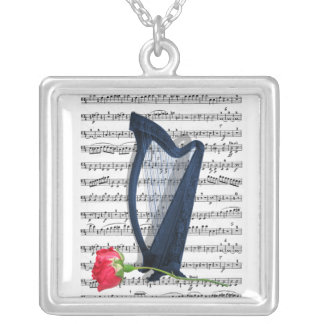 音楽の愛のため シルバープレートネックレス